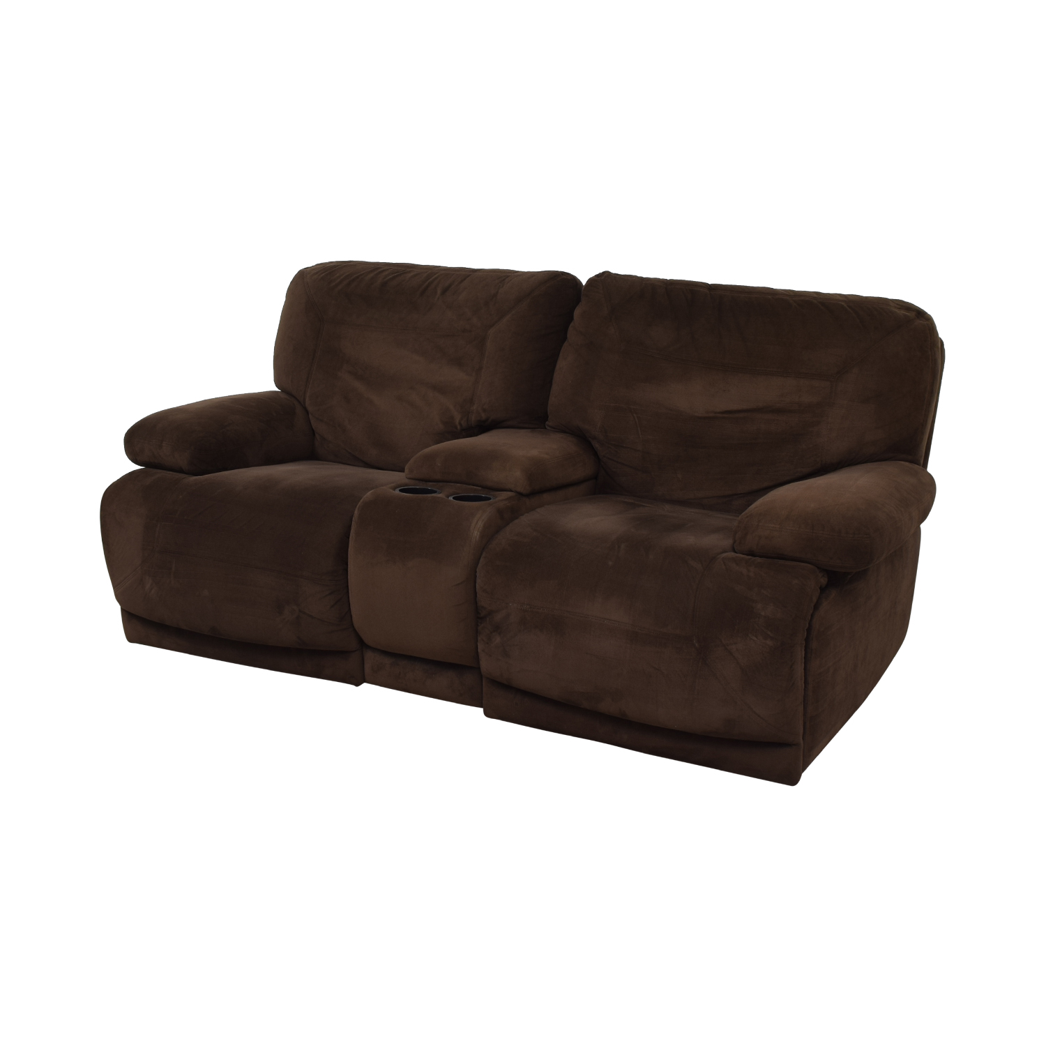 Macy's Macy's Brown Reclining Loveseat coupon