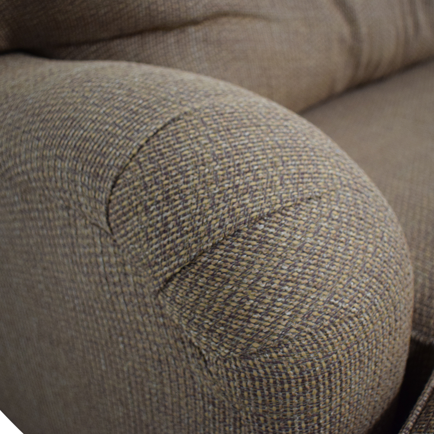 Klaussner Home Furnishings Brown Single Cushion Couch and Ottoman sale