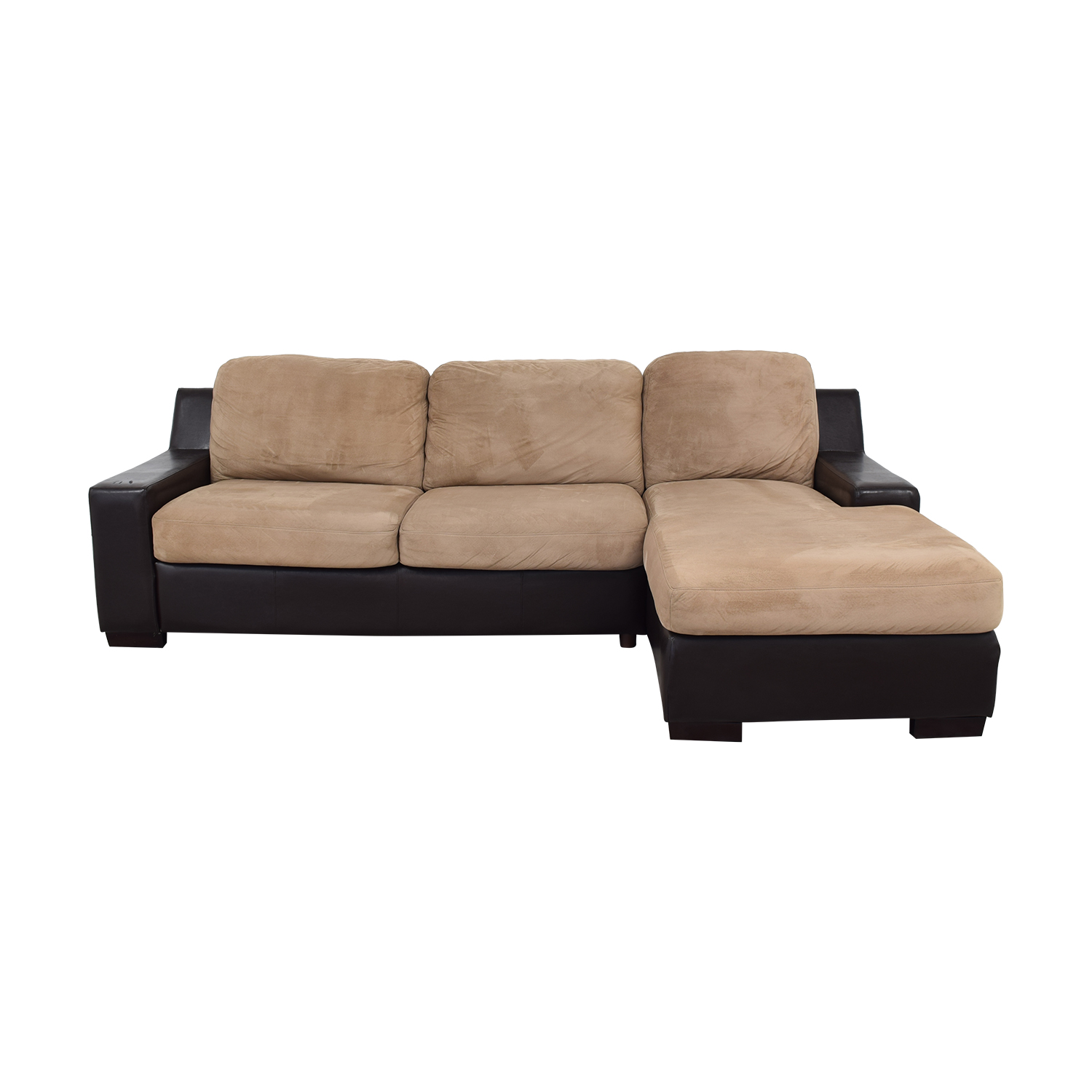 shop Red Barrel Studio Swinyer Two-Toned Sectional Red Barrel Studio