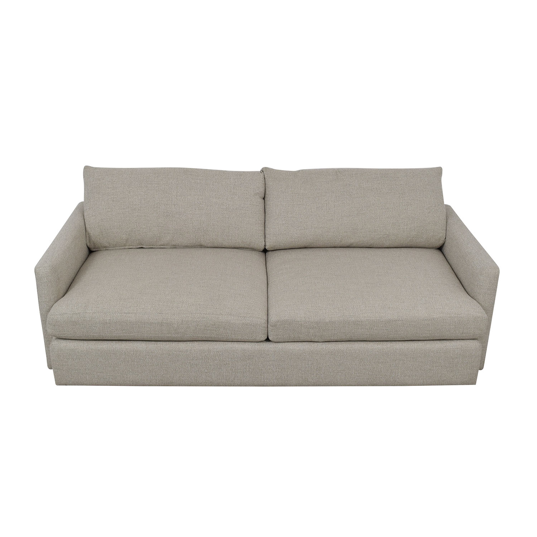 buy Crate & Barrel Lounge II Grey Two-Cushion Sofa Crate & Barrel