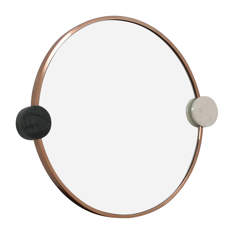 shop West Elm West Elm Graphic Dot Stone Round Mirror online