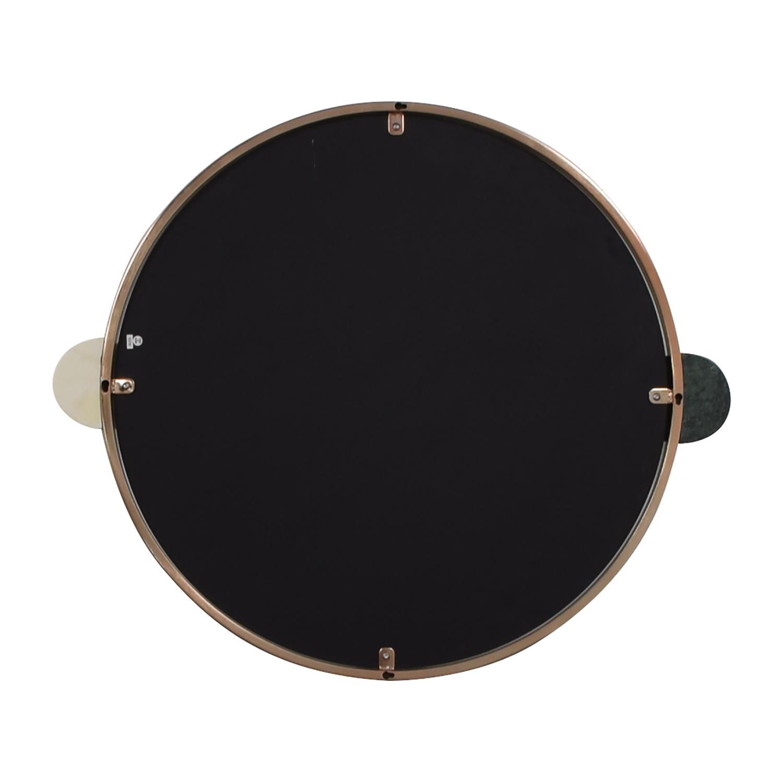 West Elm Graphic Dot Stone Round Mirror sale