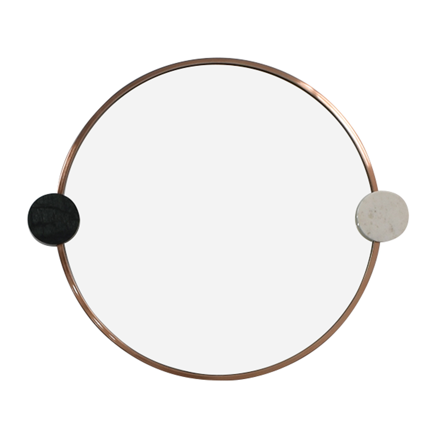 West Elm West Elm Graphic Dot Stone Round Mirror coupon