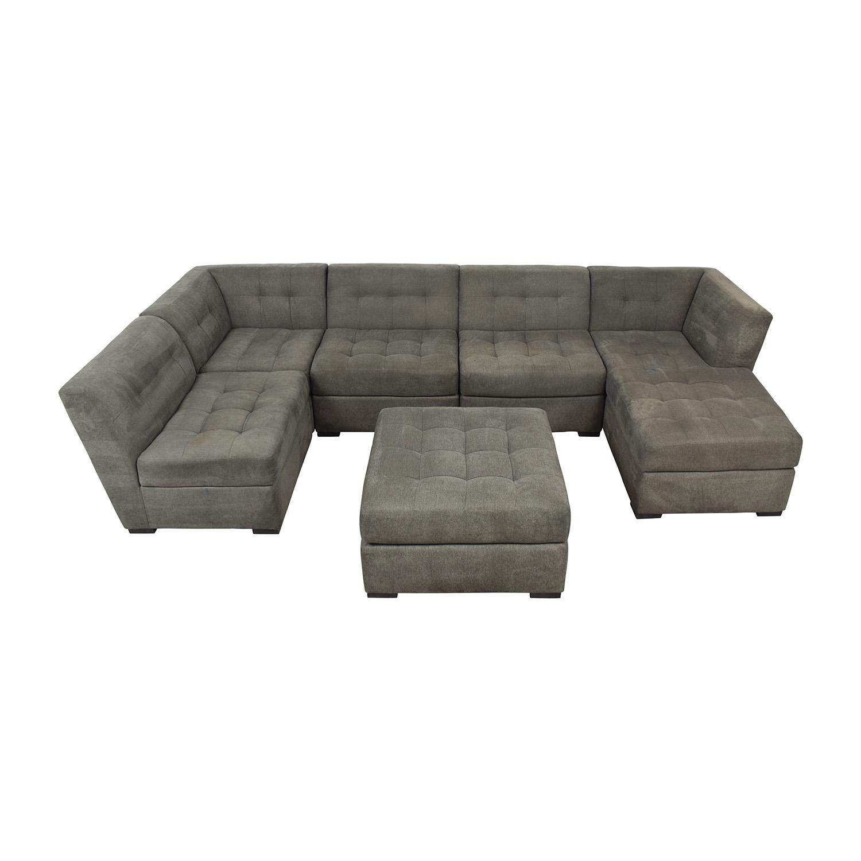 82% OFF - Macy\'s Macy\'s Roxanne II Modular Sectional Sofa with ...