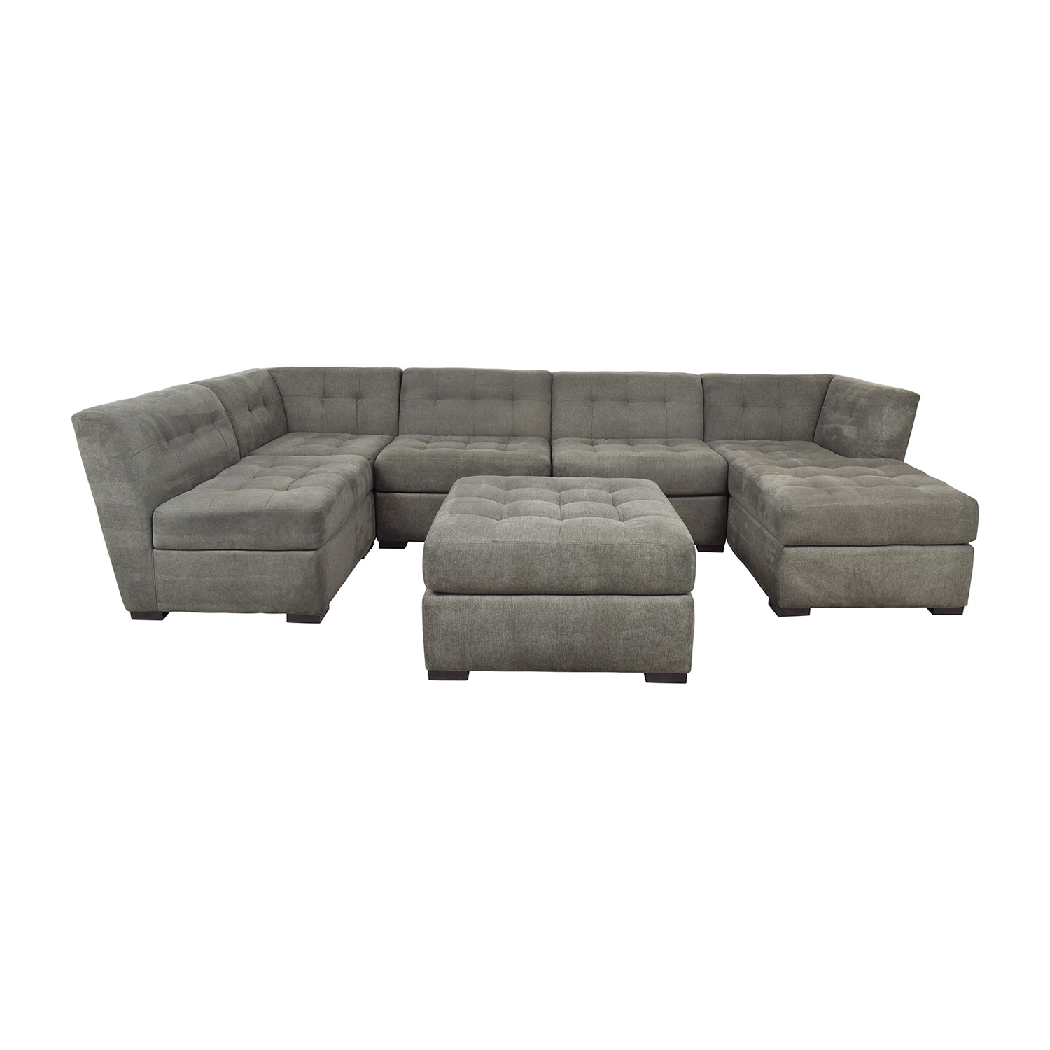 82% OFF - Macy\'s Macy\'s Roxanne II Modular Sectional Sofa with Chaise &  Ottoman / Sofas