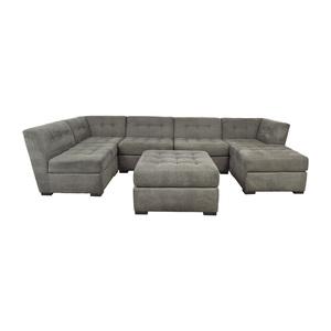 Macy's Roxanne II Modular Sectional Sofa with Chaise & Ottoman Macy's
