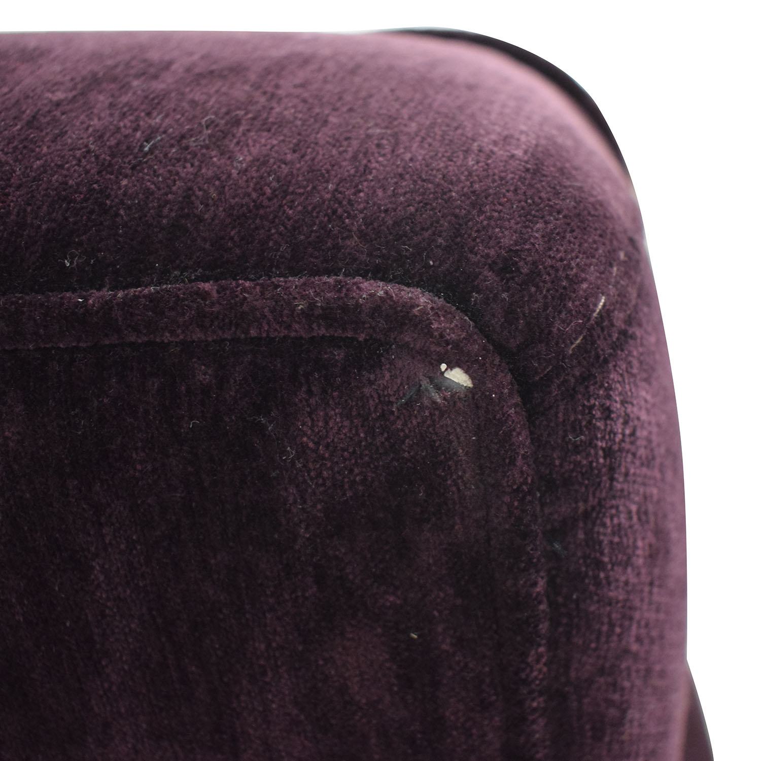 Macy's Macy's Purple Loveseat and Ottoman dimensions