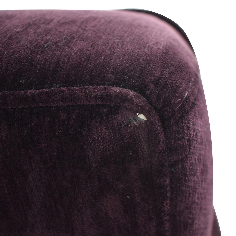 Macy's Macy's Purple Loveseat and Ottoman dimensions
