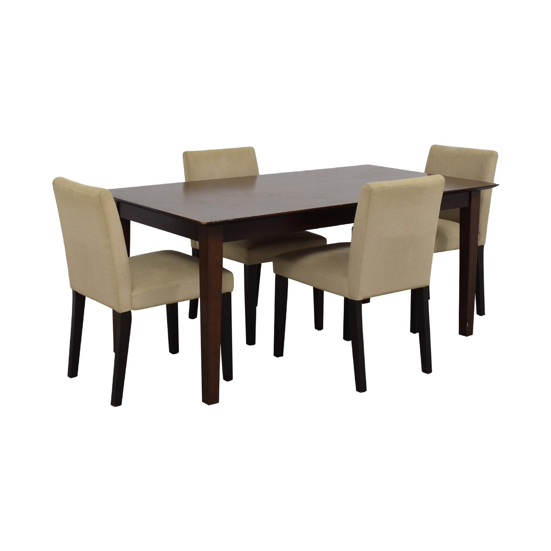 shop Cream Five Piece Dining Set  Tables