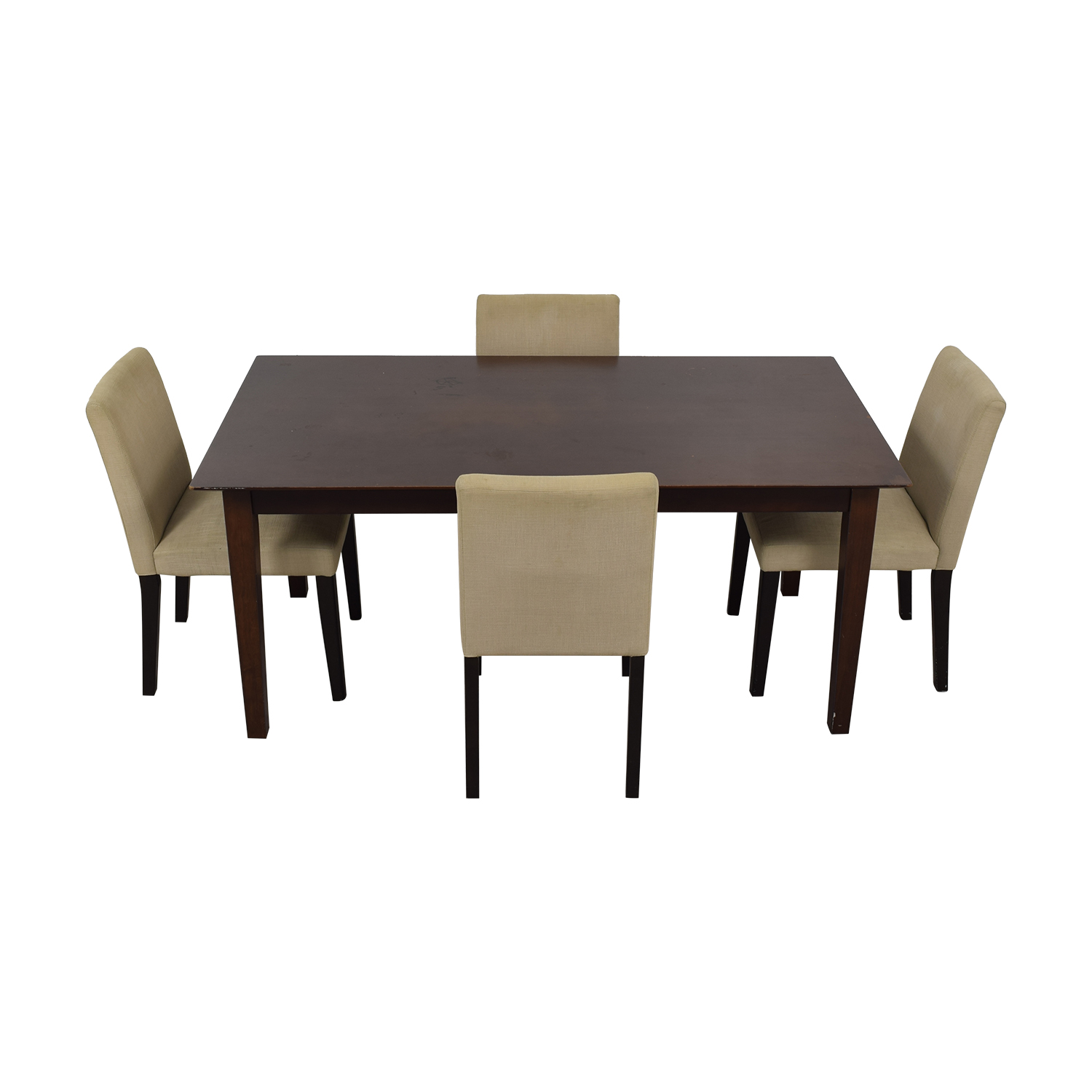 Cream Five Piece Dining Set Cream