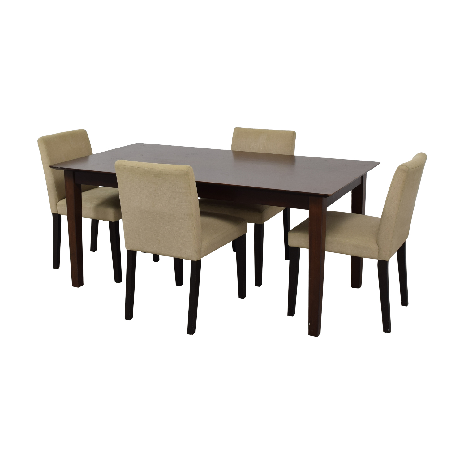 shop Cream Five Piece Dining Set  Dining Sets