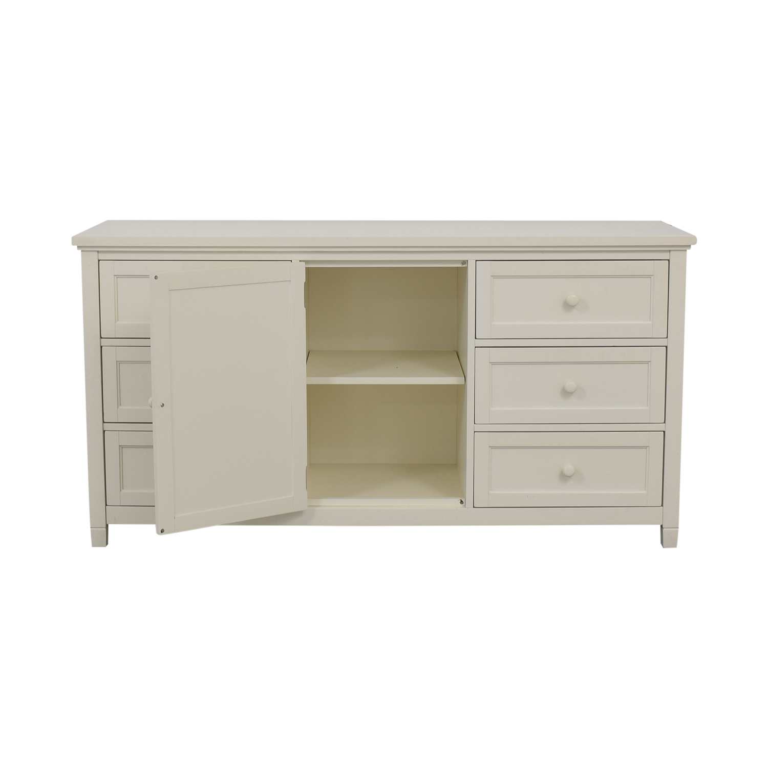 Pottery Barn Pottery Barn White Six-Drawer Beadboard Dresser used
