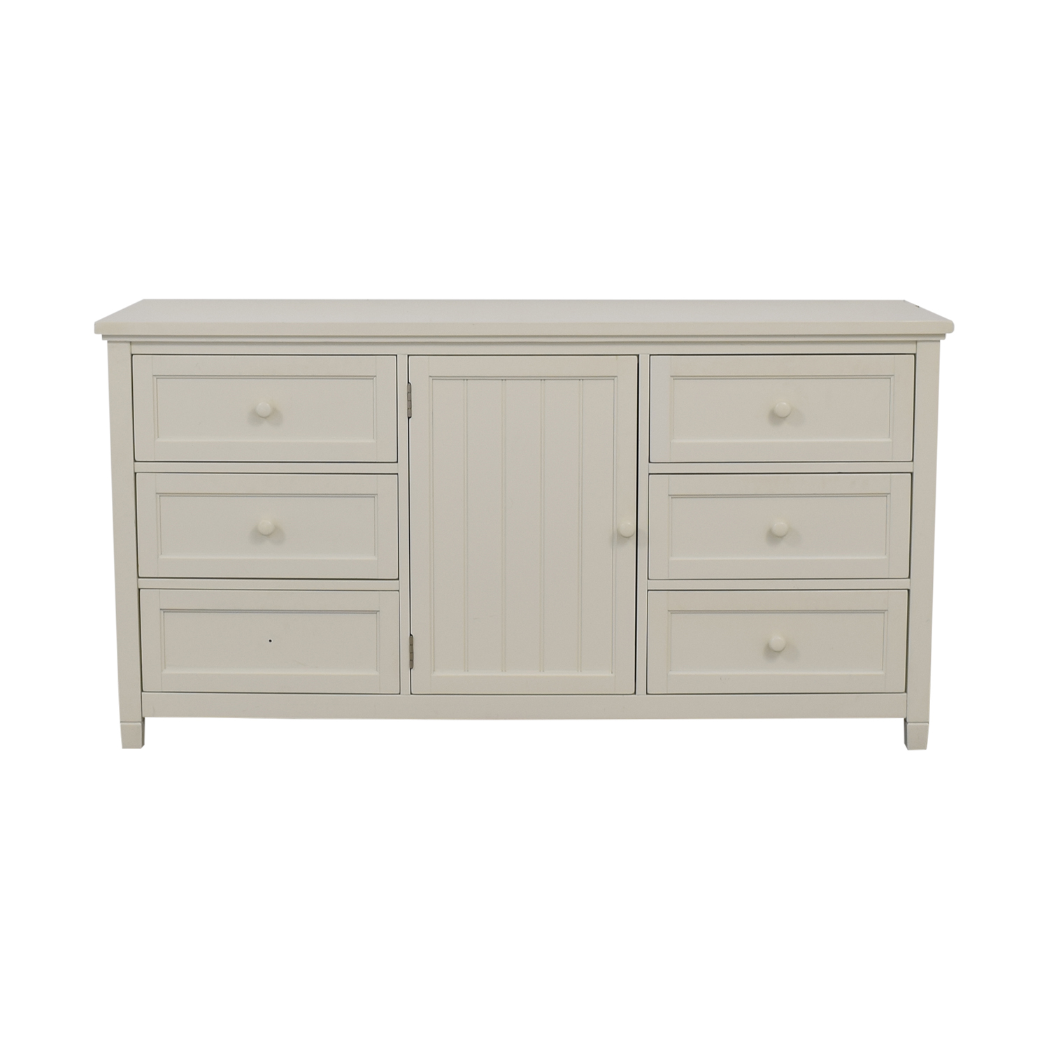 buy Pottery Barn Pottery Barn White Six-Drawer Beadboard Dresser online