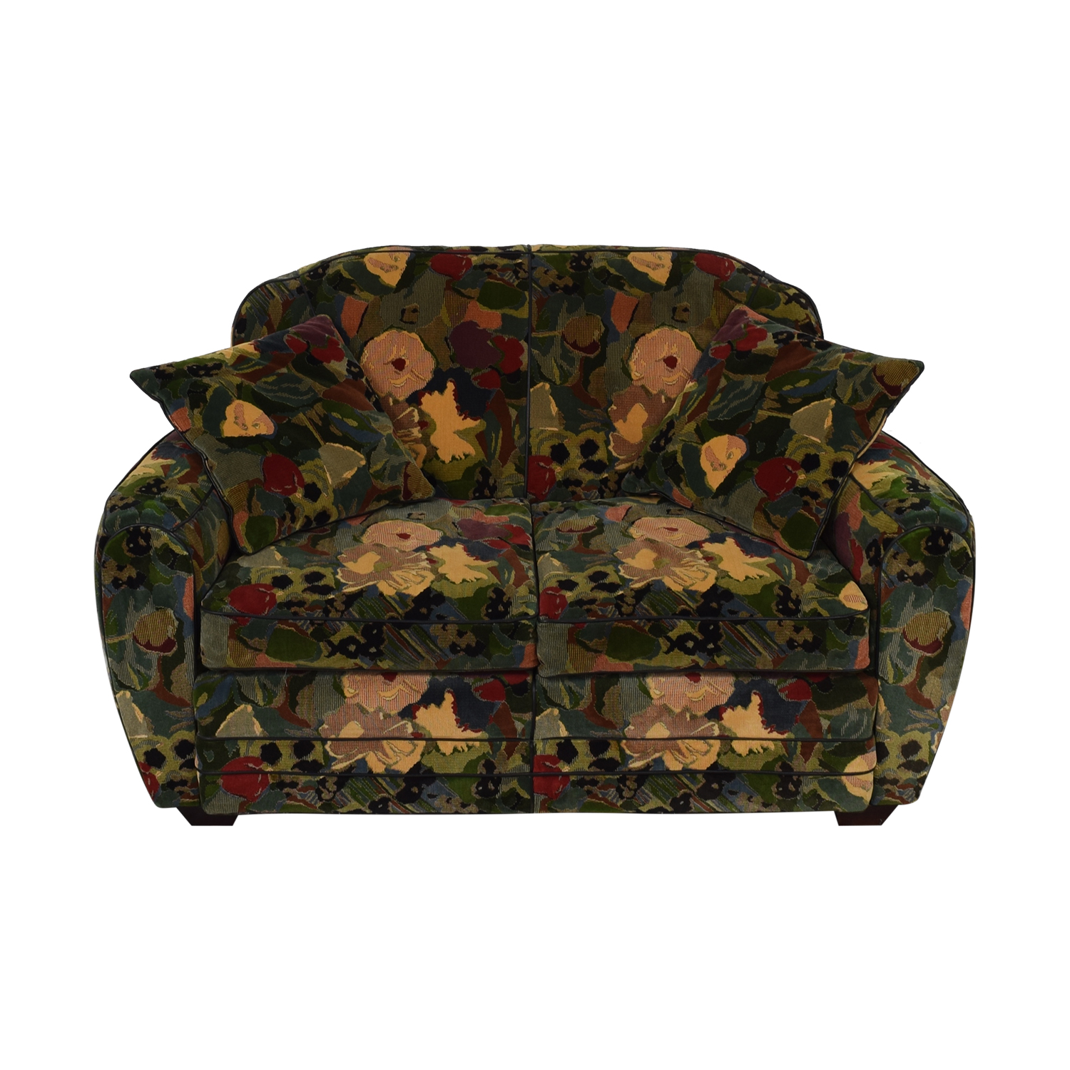 Old Hickory Tannery Old Hickory Tannery Floral Loveseat used