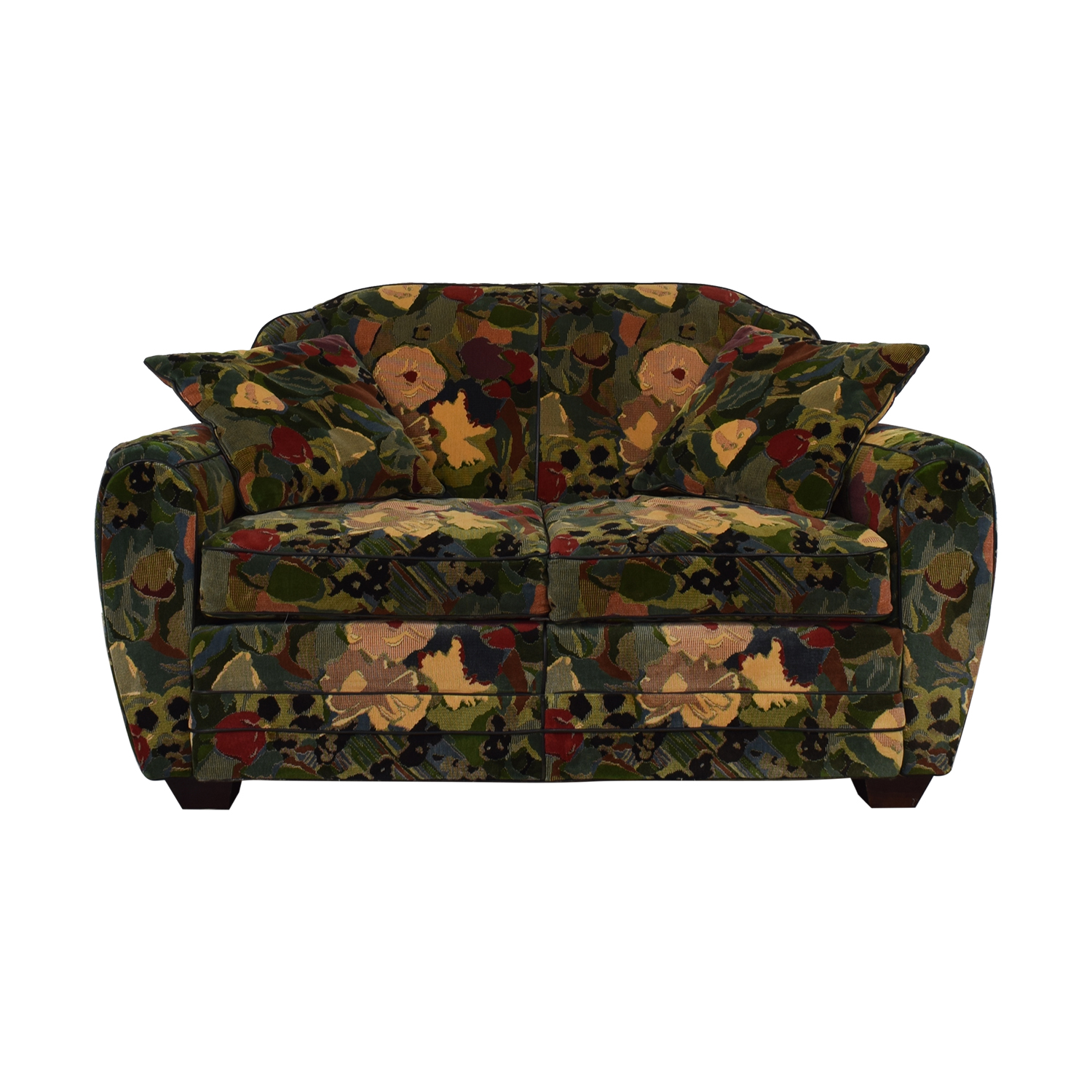 Prime 75 Off Old Hickory Tannery Old Hickory Tannery Floral Loveseat Sofas Theyellowbook Wood Chair Design Ideas Theyellowbookinfo