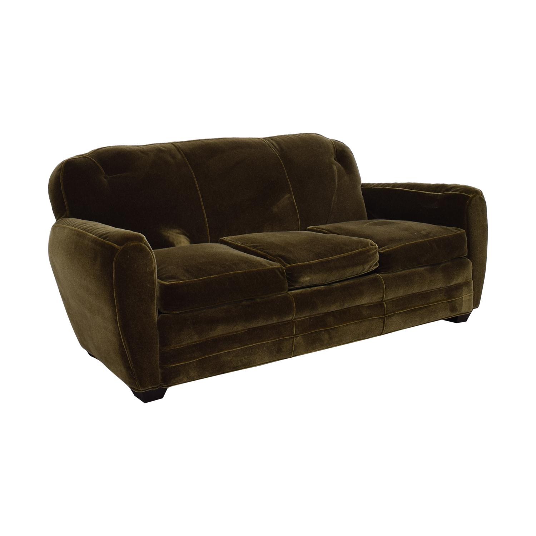 Peachy 87 Off Abc Carpet Home Abc Carpet Home Brown Three Cushion Sofa Sofas Ncnpc Chair Design For Home Ncnpcorg