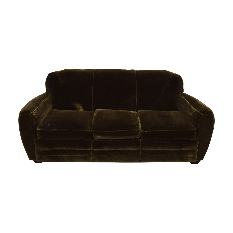 Admirable 87 Off Abc Carpet Home Abc Carpet Home Brown Three Cushion Sofa Sofas Ncnpc Chair Design For Home Ncnpcorg