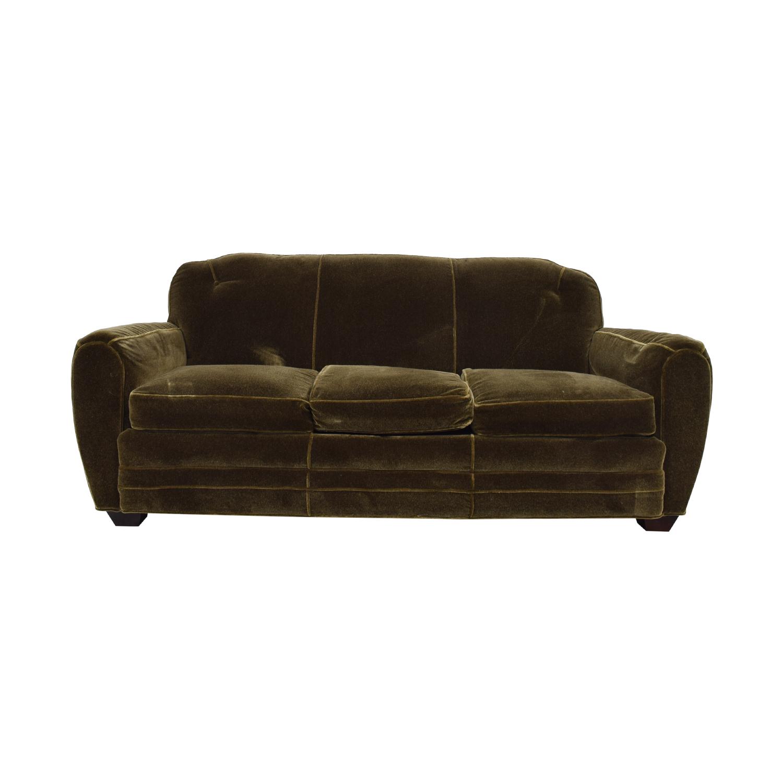 ABC Carpet & Home ABC Carpet & Home Brown Three-Cushion Sofa nyc