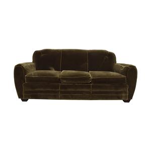 ABC Carpet & Home Brown Three-Cushion Sofa ABC Carpet & Home
