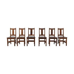 Charles P. Limbert Furniture Co Charles P. Limbert Brown Dining Chairs