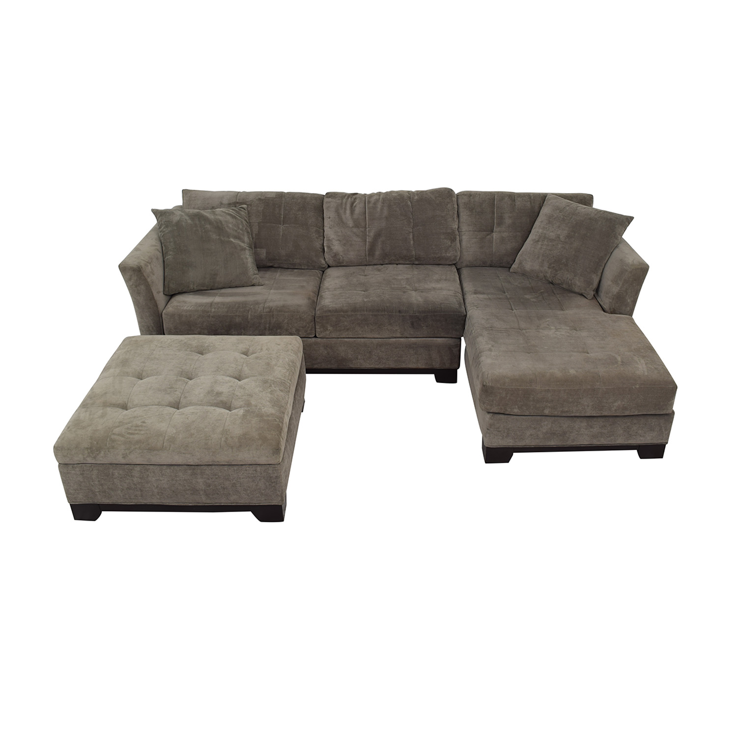 Macy's Macy's Furniture Chaise Couch with Ottoman second hand