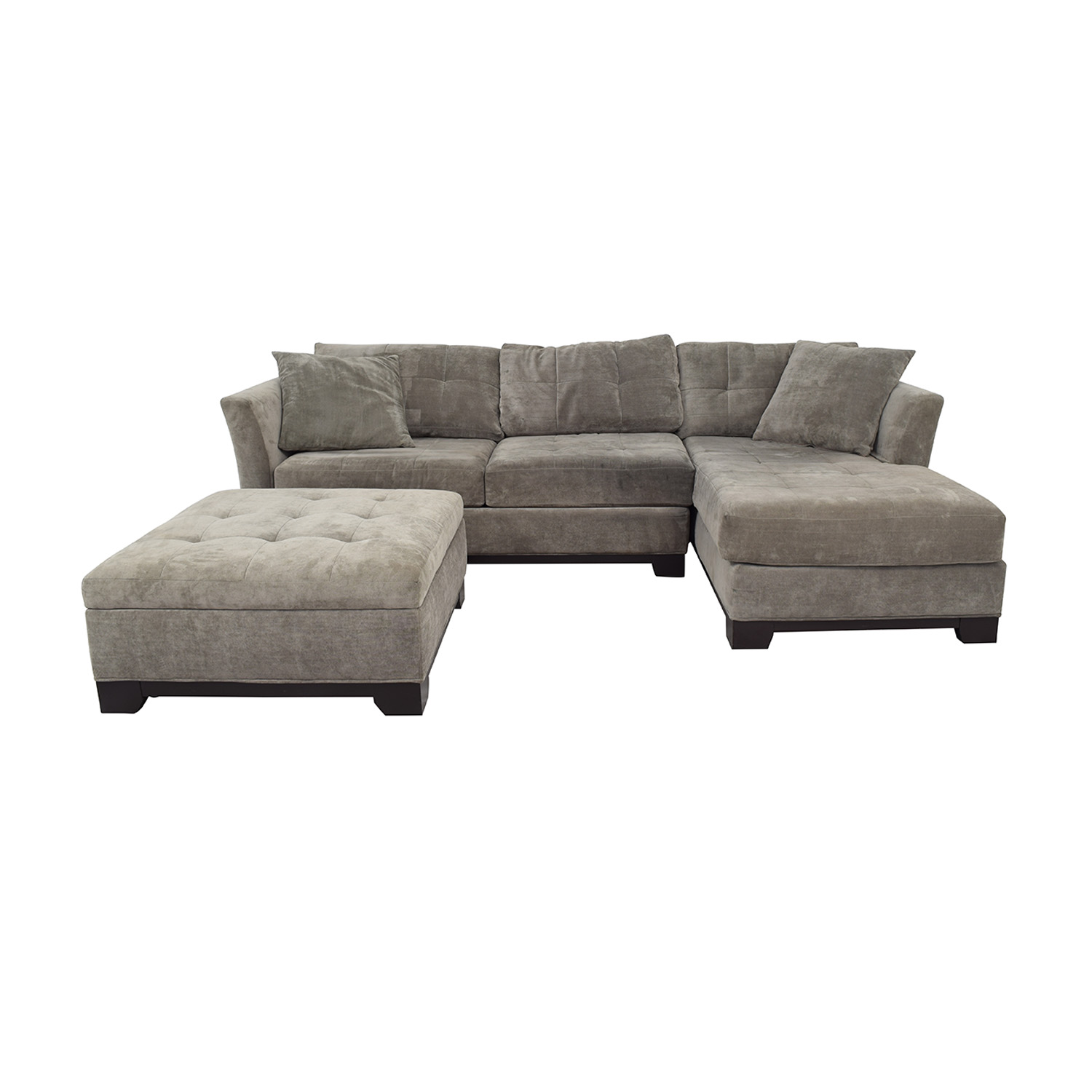 Macy's Furniture Chaise Couch with Ottoman / Sofas