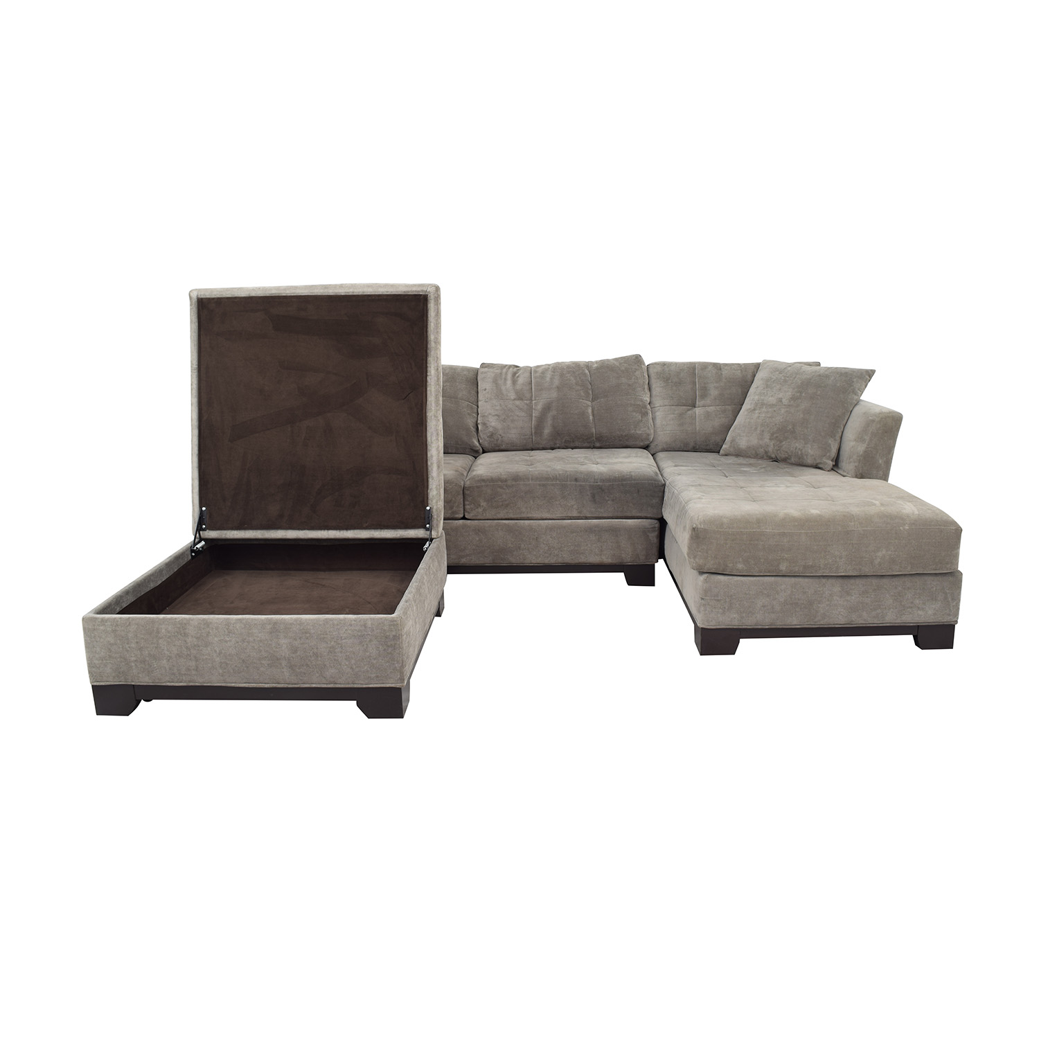 Macy's Macy's Furniture Chaise Couch with Ottoman Sectionals