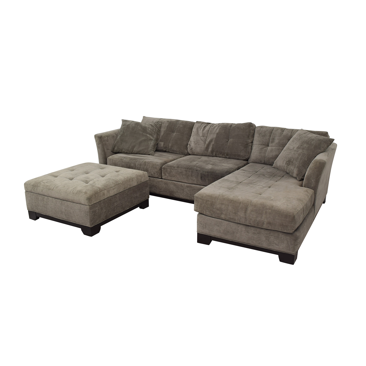 shop Macy's Furniture Chaise Couch with Ottoman Macy's