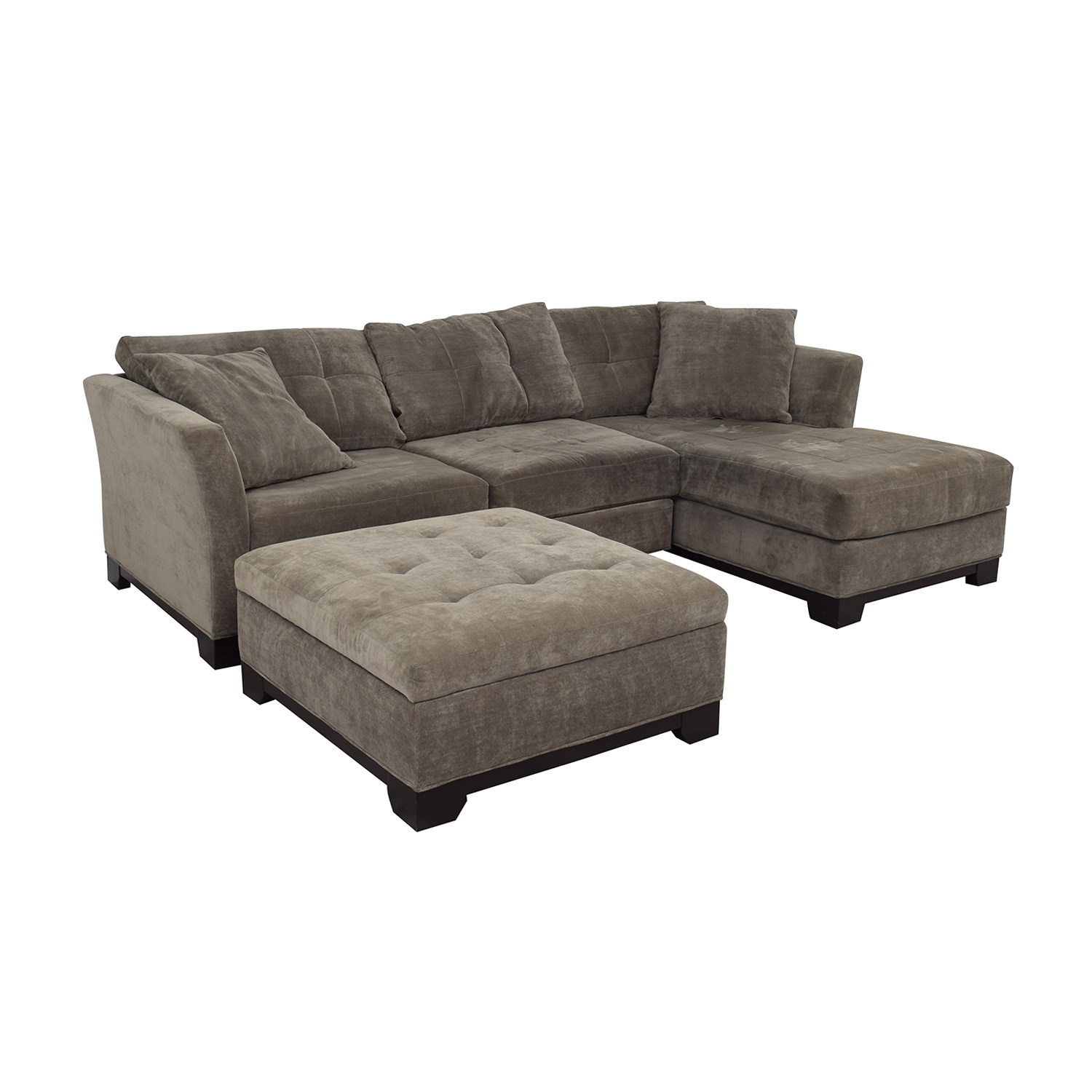 Macy's Macy's Furniture Chaise Couch with Ottoman for sale