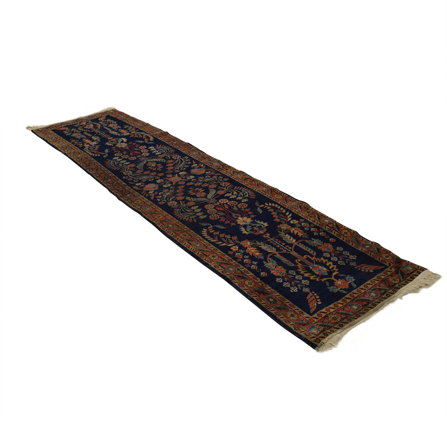 Persian Sarouk Multi-Colored Rug Runner