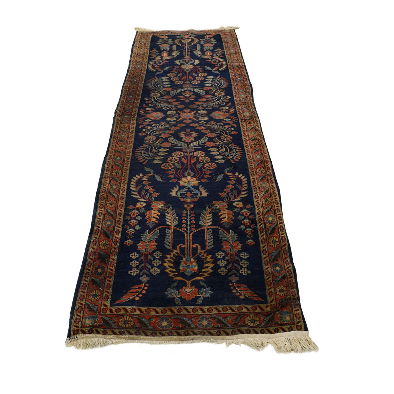 Persian Sarouk Multi-Colored Rug Runner discount