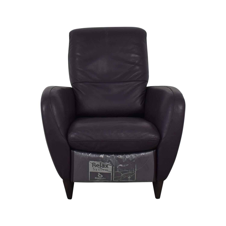 71 Off Natuzzi Natuzzi Italsofa Purple Recliner Chairs