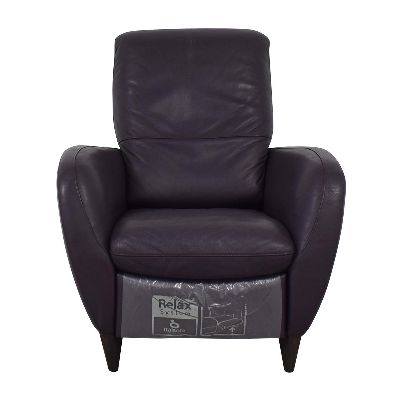 Brilliant 79 Off Natuzzi Natuzzi Italsofa Purple Recliner Chairs Beatyapartments Chair Design Images Beatyapartmentscom