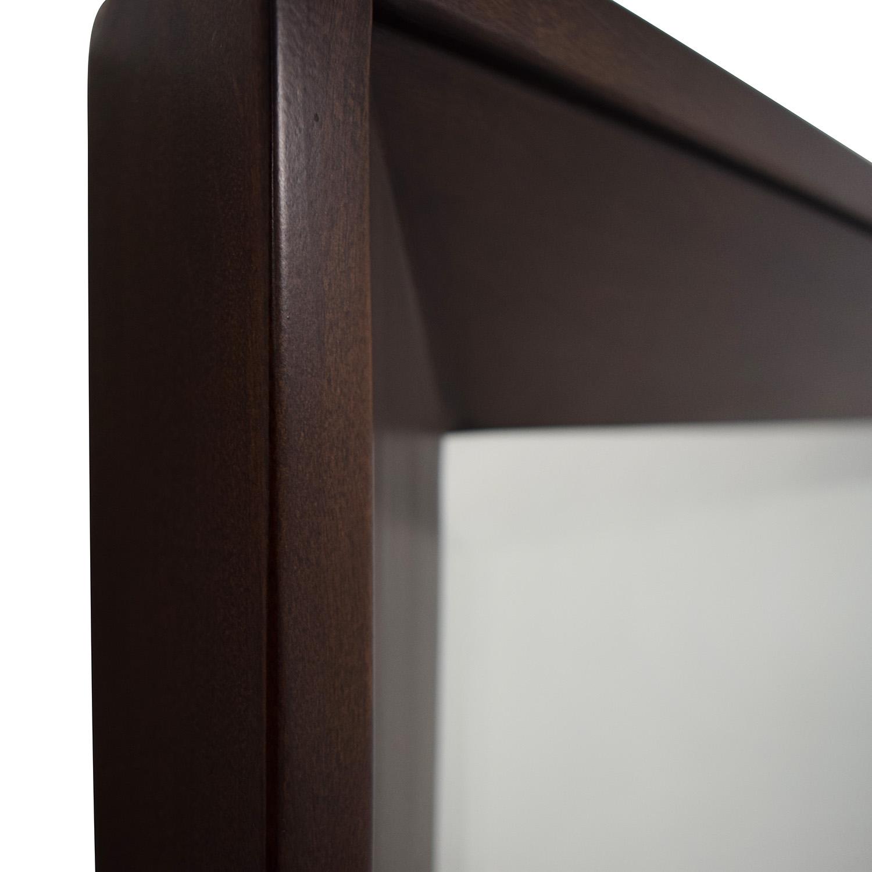 Crate & Barrel Wood Framed Wall Mirror sale