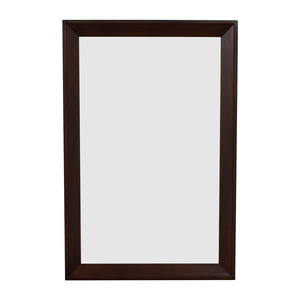 shop Crate & Barrel Wood Framed Wall Mirror Crate & Barrel