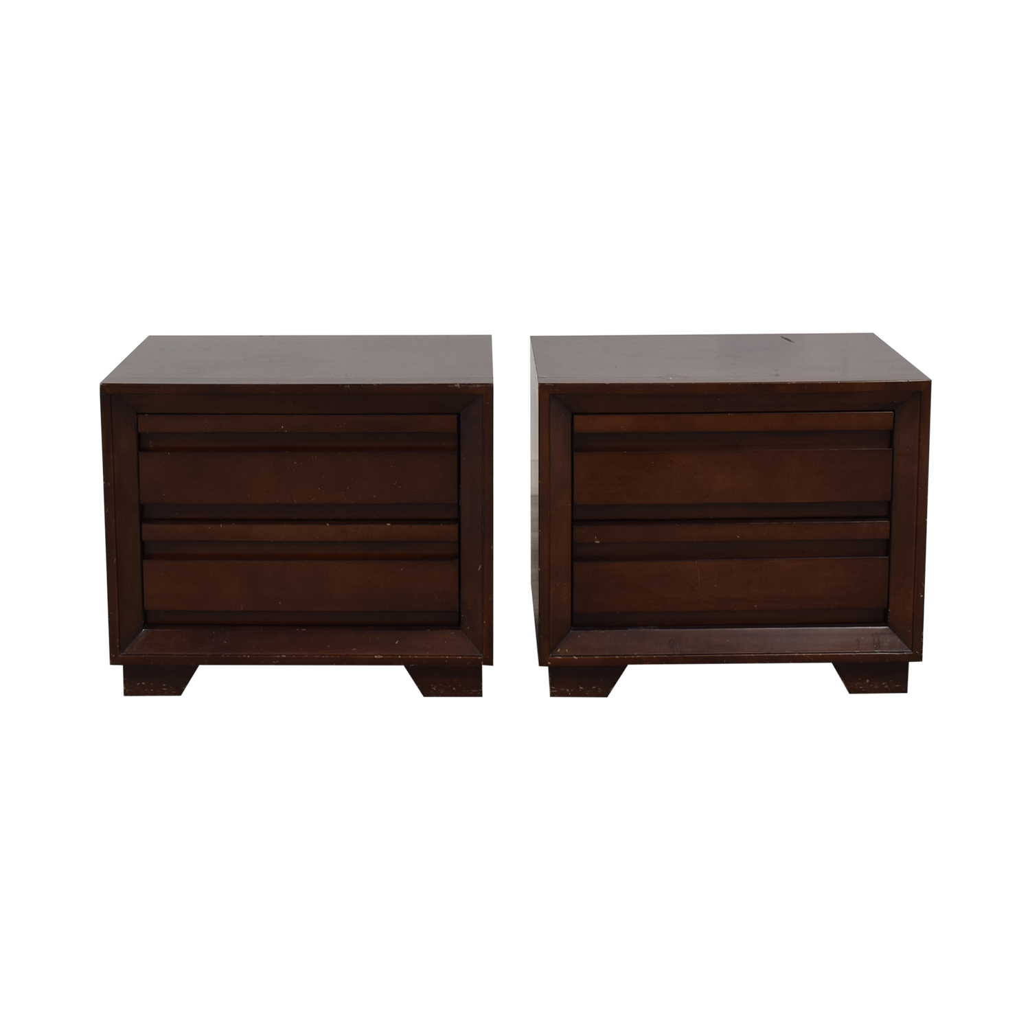 shop Crate & Barrel Two-Drawer Side Tables Crate & Barrel