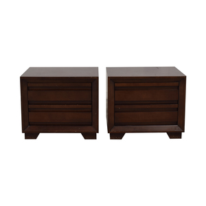 Crate & Barrel Crate & Barrel Two-Drawer Side Tables