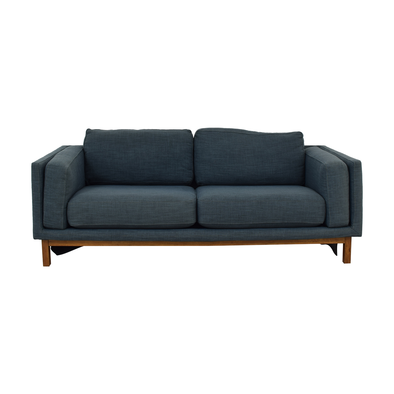 shop West Elm West Elm Dekalb Blue Two Cushion Sofa online