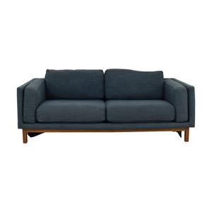 West Elm West Elm Dekalb Blue Two Cushion Sofa on sale