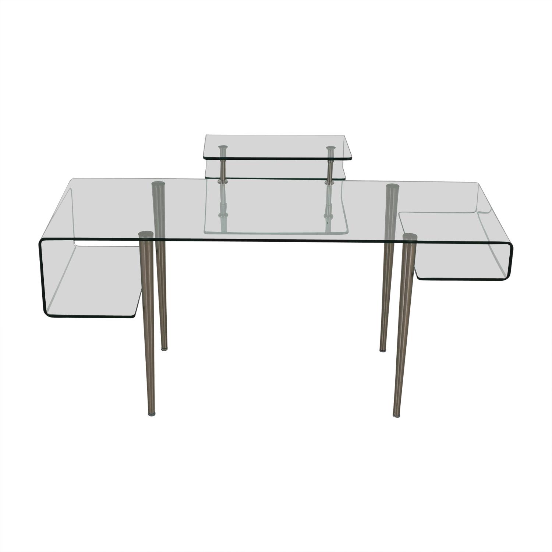 Modern Glass Desk on sale