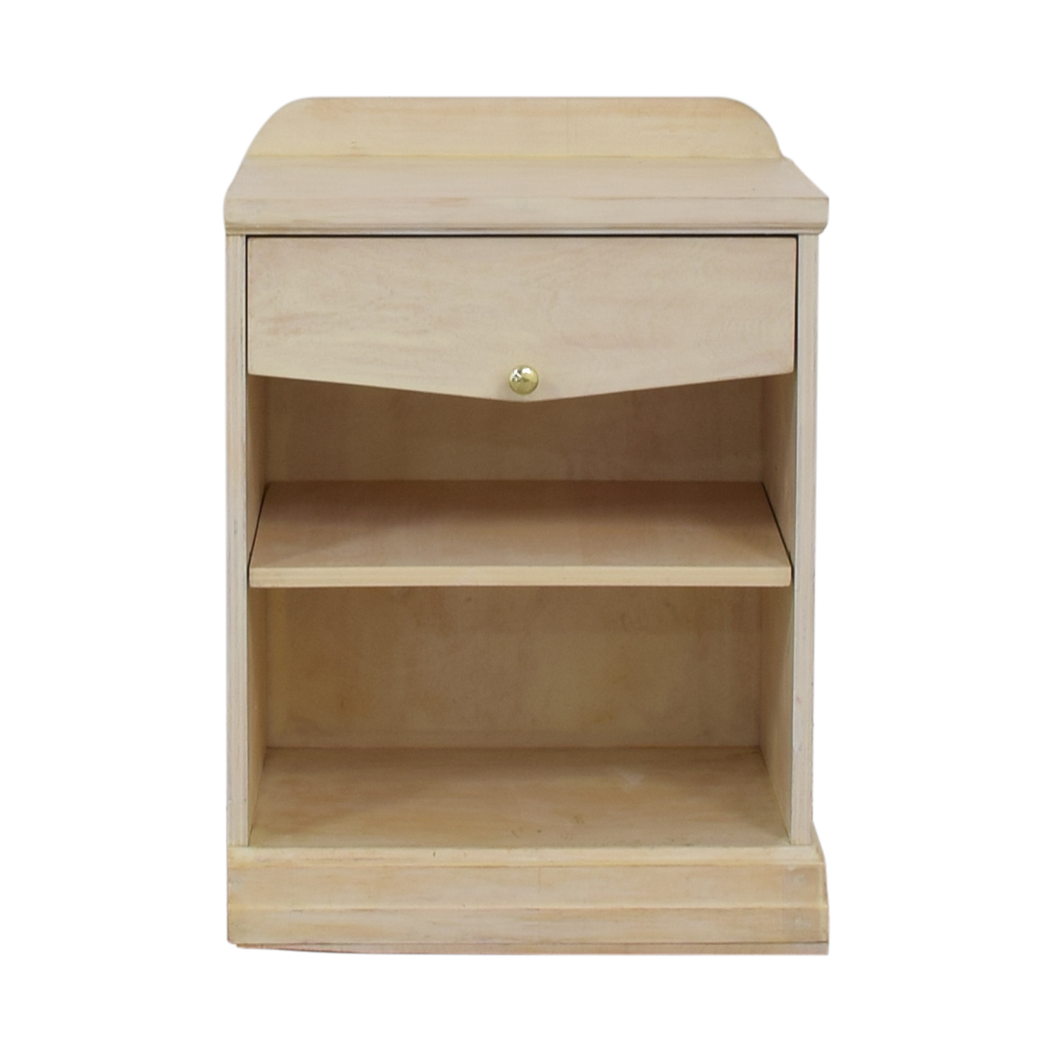 Distressed Cream Single Drawer Nightstand discount