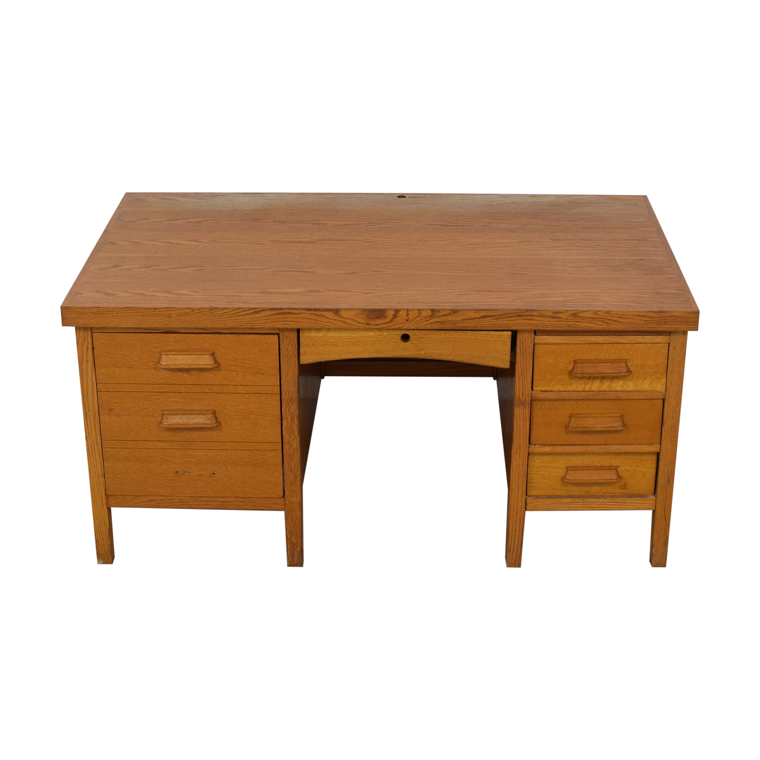 66 Off Antique Quarter Sawn Oak Mission Writing Desk Tables