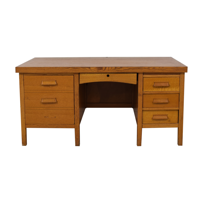 Antique Quarter Sawn Oak Mission Writing Desk nyc