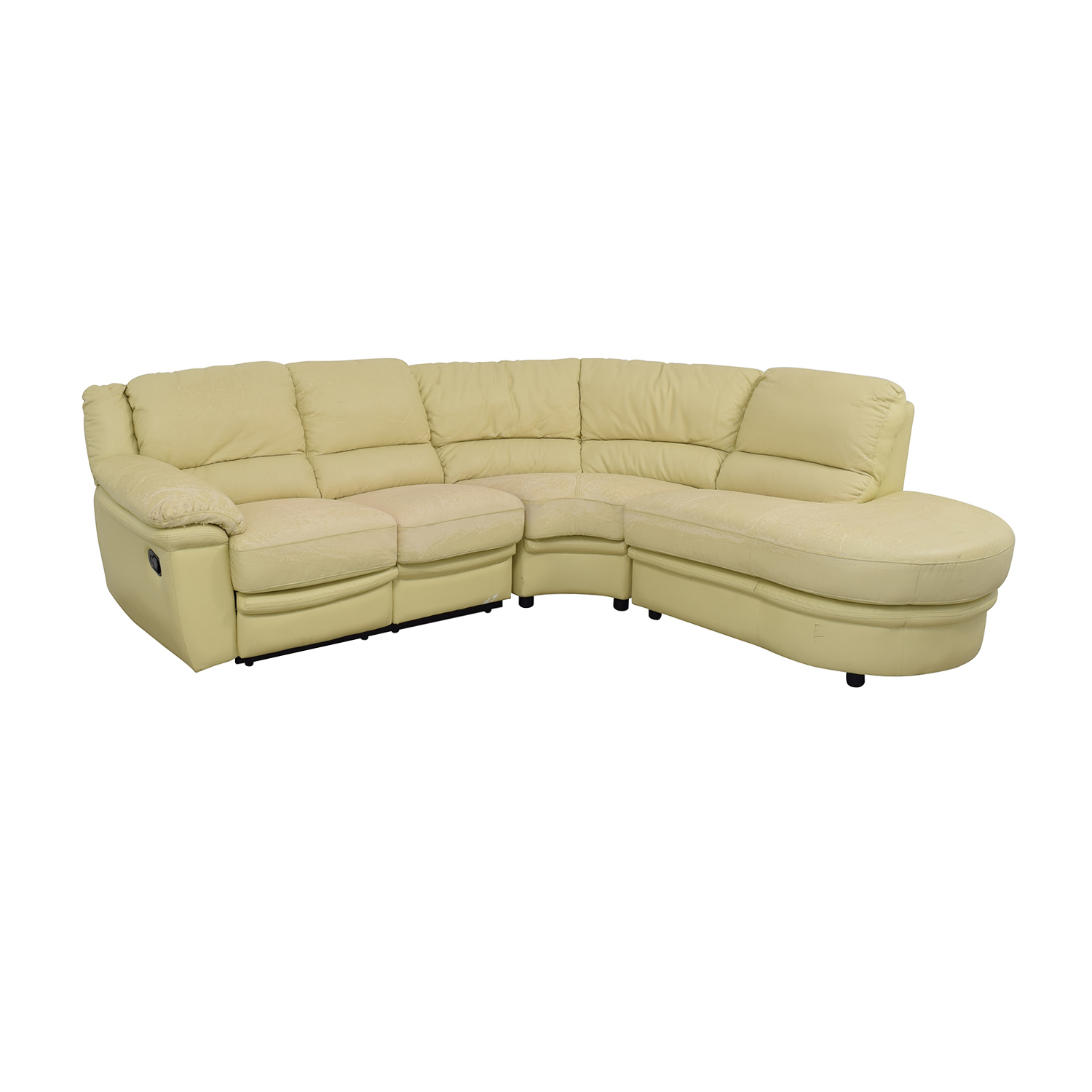 buy  Beige L-Shaped One Reclining Chair Sectional online