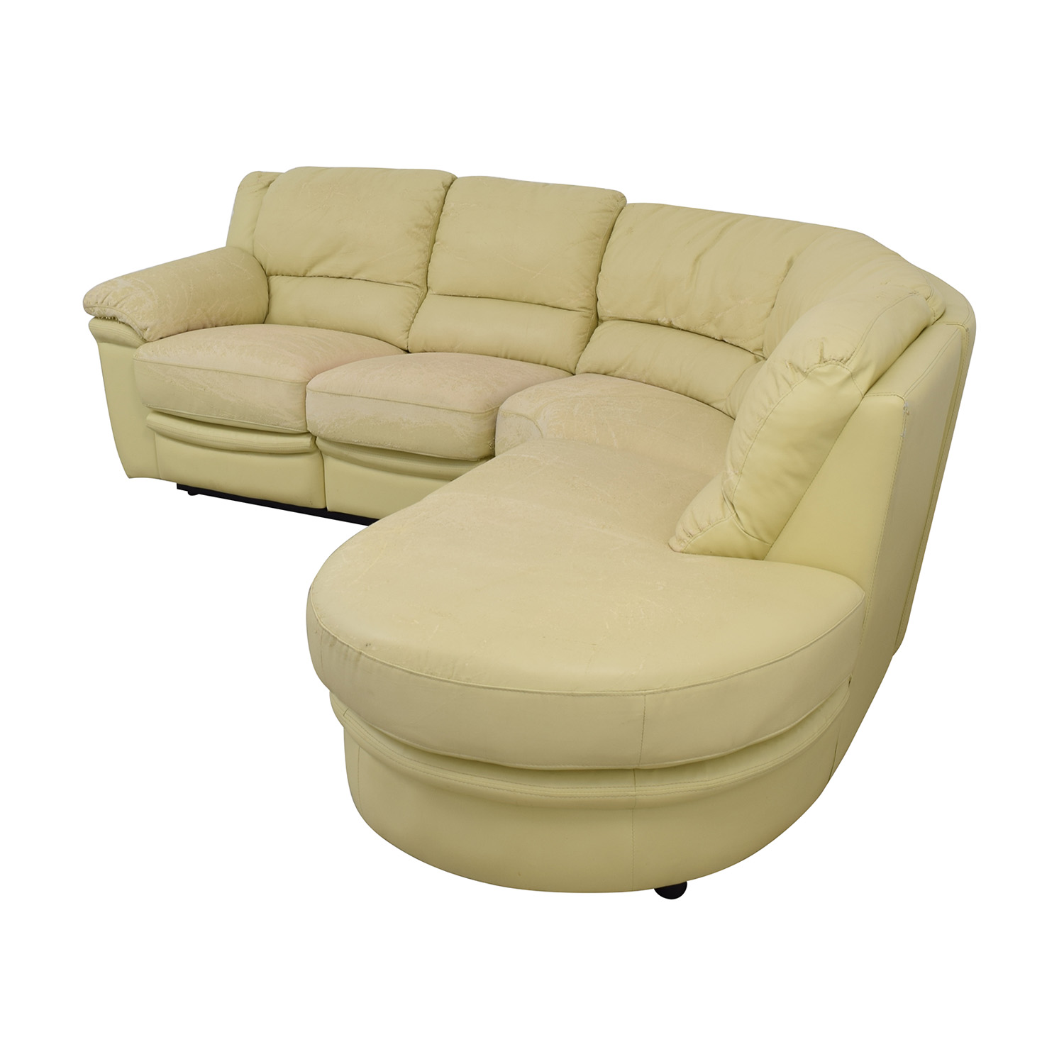 shop  Beige L-Shaped One Reclining Chair Sectional online