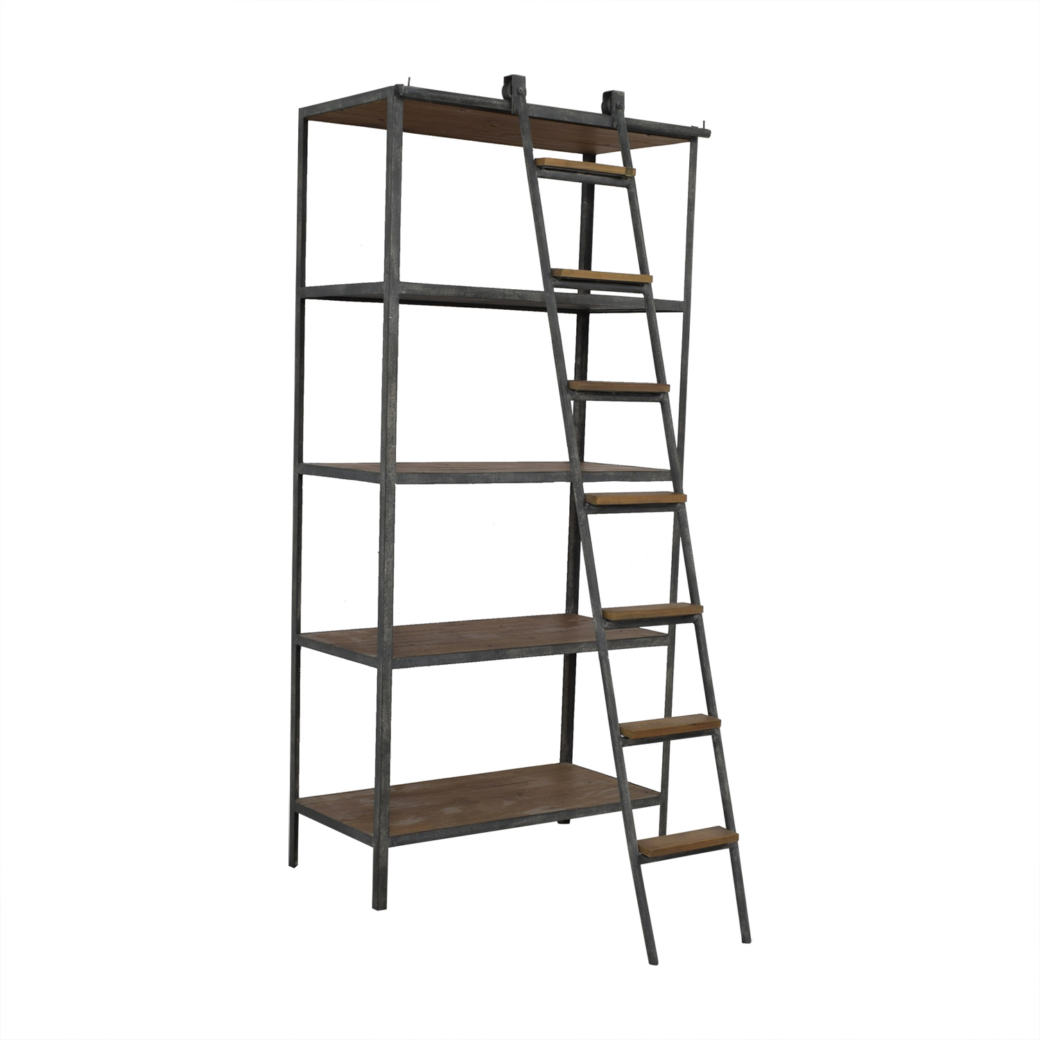 buy ABC Carpet & Home Book Shelf with Ladder ABC Carpet & Home Bookcases & Shelving