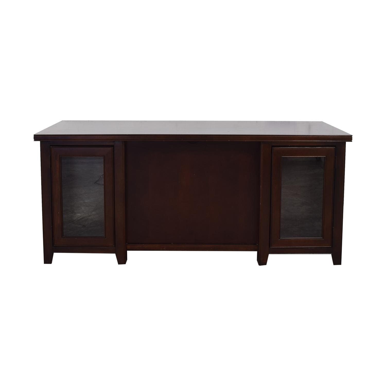 Martin Home Furnishings Loft Cherry Double Pedestal Desk / Sofas