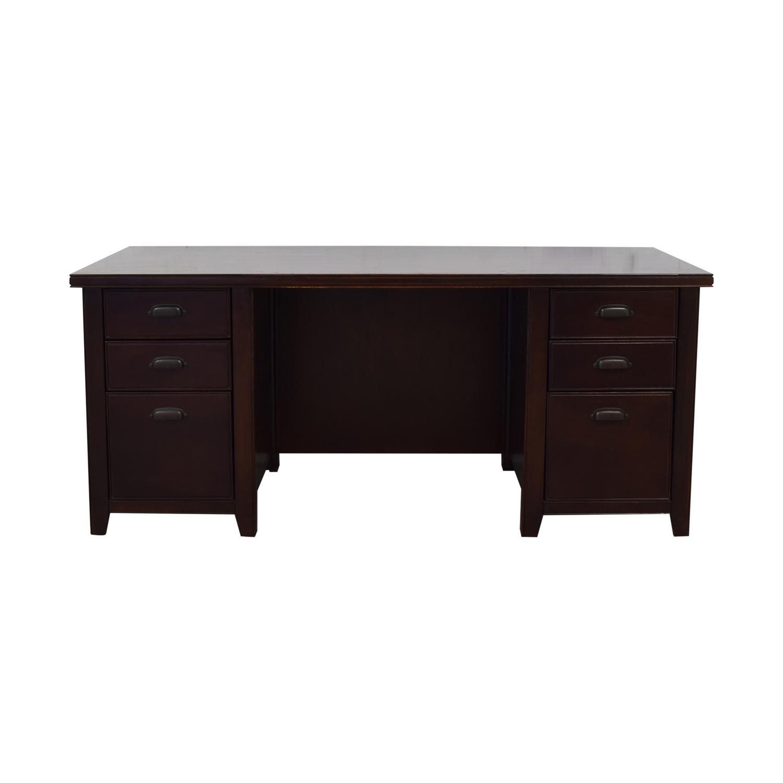 Martin Home Furnishings Martin Home Furnishings Loft Cherry Double Pedestal Desk used