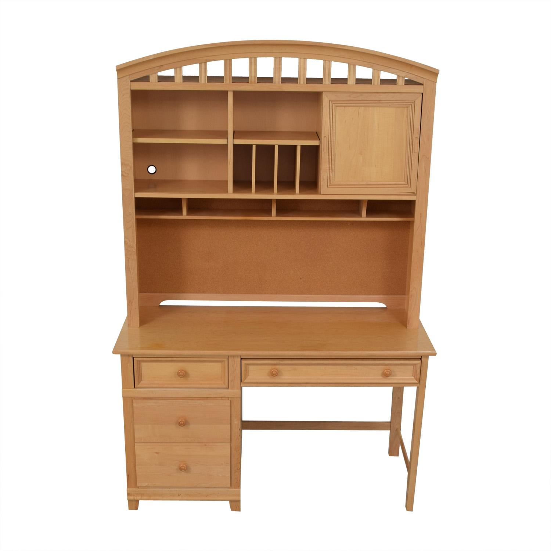 Stanley Furniture Three Drawer Desk With Hutch