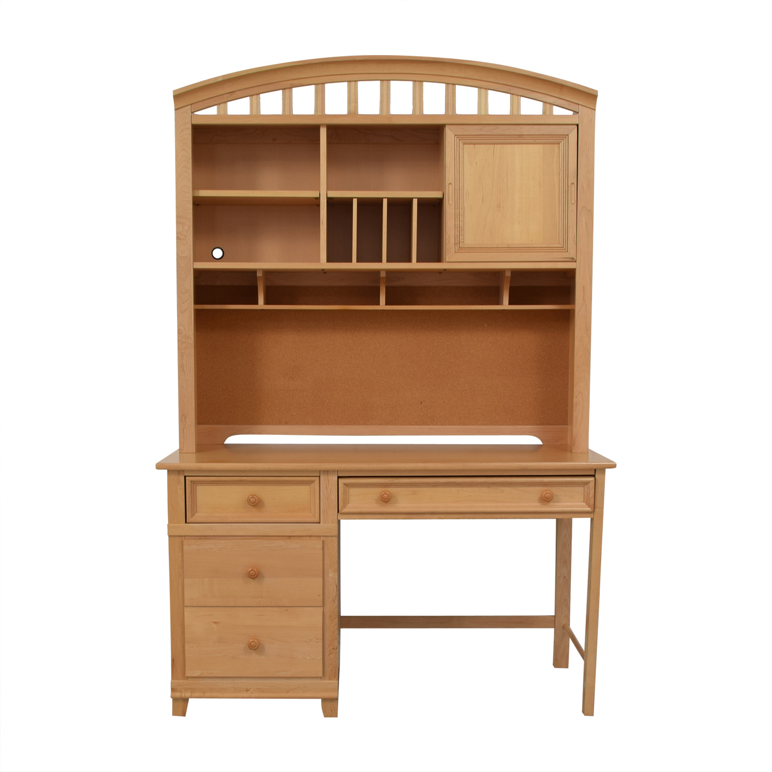 shop Stanley Furniture Three-Drawer Desk with Hutch Stanley Furniture Tables